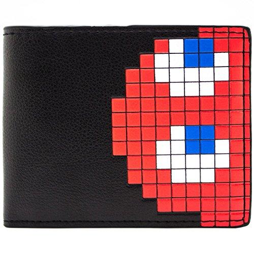 Pac-Man Blinky Das Ghost Schwarz Portemonnaie -