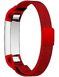 Hanlesi Armband für Fitbit Alta und Fitbit Alta HR, Edelstahl Metal lband Fitness Wristband für Fitbit Alta und Fitbit Alta HR