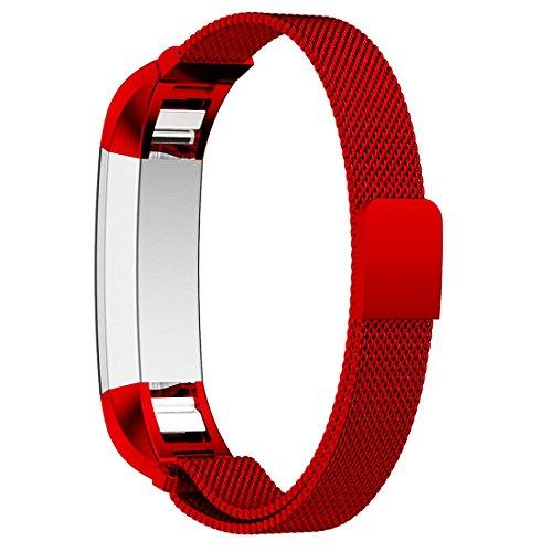 Bepack für Fitbit Alta and Alta HR Unisex Armband, Edelstahl Einstellbares Stahlarmband Strap für Fitbit Alta Heart Rate Uhrenarmband Fitness Wristband
