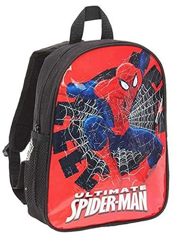 Sac à dos enfant garçon Ultimate Spider-man Noir/rouge 30cm
