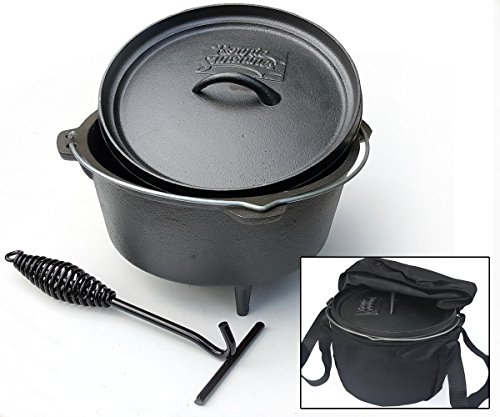 Dutch Oven 4Ltr Cast Iron Cooking Pot