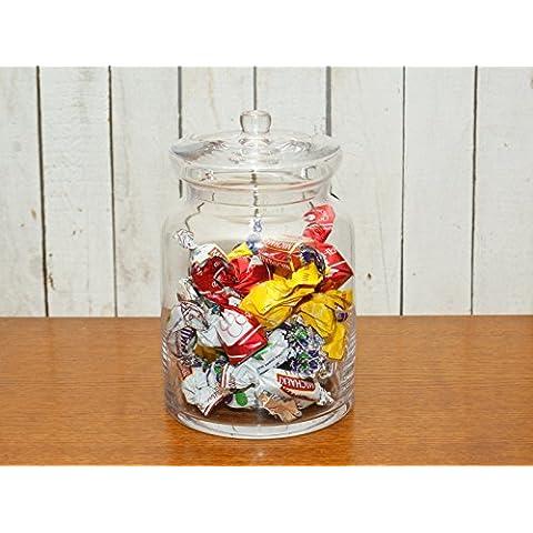 Tarro de vidrio con una tapa para pasta de azúcar sal Tuercas caramelos de fruta Galletas 26cm de alto Lorna