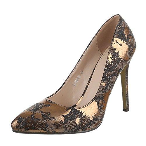 Ital-Design - Scarpe con Tacco Donna Oro (oro)