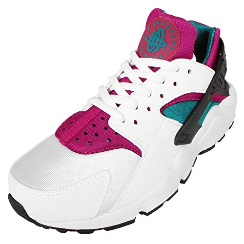 Nike - Air Huarache, Sneakers da donna Bianco (Weiß / Radiant Smaragd / Sport Fuchsia)