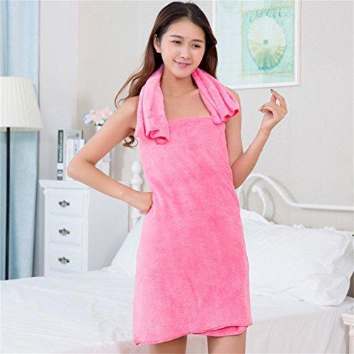 Badetuch + Face Handtuch, mamum Weiche Baumwolle FACE Flower Handtuch Bambus Faser Quick Dry Handtücher Badetuch zweiteilig, hot pink, Einheitsgröße