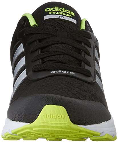 Adidas Neo Cloudfoam Vs Stadt Schuhe, schwarz / metallic silber / gelb, 12 M Us Black/Metallic Silver/Yellow