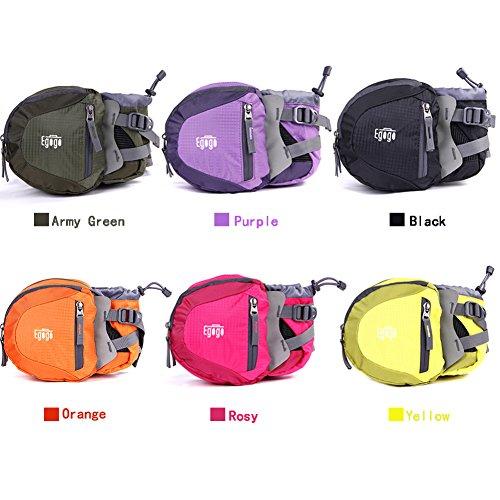 EGOGO travel sport waist pack fanny pack hiking bum bag with water bottle holder