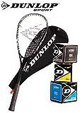 _Dunlop Squashset: Squashschläger BIOTEC LITE TI Silver Deluxe (1x Silver Deluxe Set inkl. 3 Bälle)