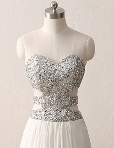 HUINI Damen Modern Kleid Silber