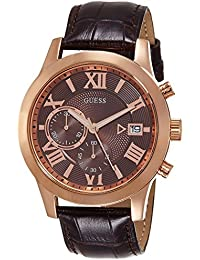 Guess Herren-Armbanduhr Chronograph Quarz Leder W0669G1