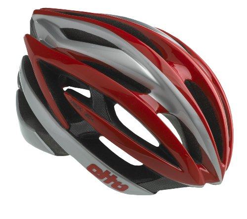 Etto Fahrradhelm Spluga Carbon, Red/Silver, M 55 - 59