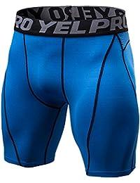 Wenyujh Hommes Pantalons Court Sport Compression Élastique Leggings Short Slim Collant Cyclisme Fitness Séchage Rapide