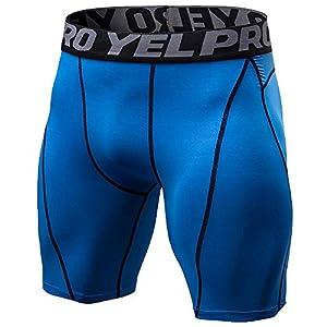 Rera Herren Sommer Sport Hose kurz Sportswear Pro Base Layer Funktionsunterwäsche Kompressionsshort Basic Unterwäsche Fitness Shorts