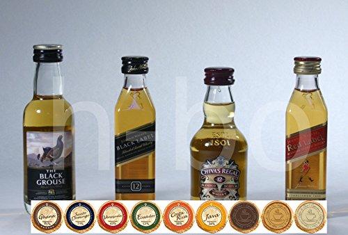 exklusives-set-scotch-whisky-mit-4-scotch-blend-whisky-miniaturen-9-dreimeister-edel-schokoladen-kos