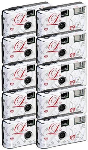 """10x allMedia """"Liebe/Love"""" Hochzeitskamera / Einwegkamera / Partykamera mit Blitz ( 27 Fotos )"""