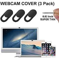 GEARGO Webcam Cover Tapa Webcam Ultra Delgada 0.7mm Cubierta de la Cámara Web para Macbook Pro, iPad, Smartphones, Ordenador, Evita ser Grabados y espiados Protege su Privacidad y Seguridad (3 Pack)