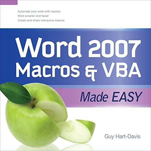 Word 2007 Macros & VBA Made Easy (Made Easy Series) by Guy Hart-Davis (2009-03-09) par Guy Hart-Davis