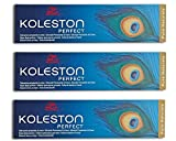 3x Wella Koleston Perfect 2/0 Schwarz Haarfarbe Coloration - 60ml