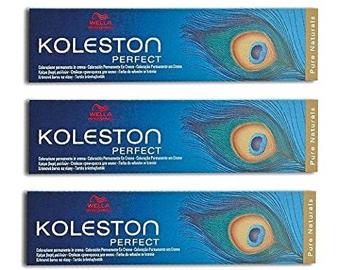 3x Wella Coloration professionnelle Koleston Perfect 6/blond foncé pur couleur