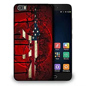 Snoogg Us Ak47 Black Tree Red Designer Protective Back Case Cover For REDMI 5