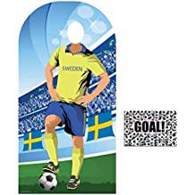 BundleZ-4-FanZ by Starstills Fan Pack - World Cup Football 2018 Sweden Stand-In Lifesize Adult Cardboard Cutout with 20cm x 25cm Star Photo