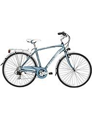 """Bicicleta de paseo Cicli Adriatica Sity 3 para hombres cuadro de aluminio 28"""" 6 velocidades (Azul, 50)"""
