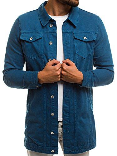 OZONEE Mix Herren Jeansjacke Übergangsjacke Jacke Denim Sweats Sweatjacke Frühlingsjacke Jeans Jacke OT/2038K/2 S (Kleine Jeans-jacke)