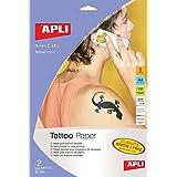 APLI Papel para imprimir Tatuajes A4 2hojas Inkjet