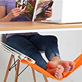 Jisen Footrest Portable Adjustable Feet Hammock with Memory Foam to Relieve Knee Pain Provides Relaxation and Comfort for Airplane Travel Office Home