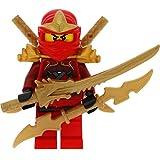 LEGO Ninjago Minifigur Kai ZX aus Set 9449 incl. 4 GALAXYARMS Schwertern