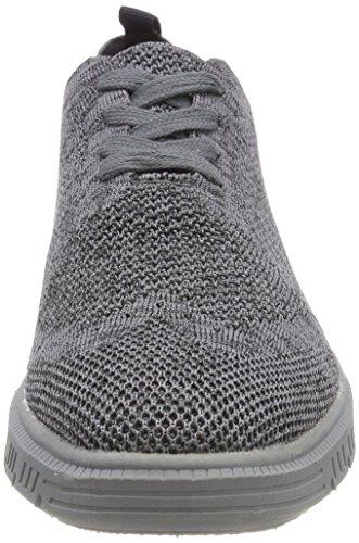 Josef Seibel Herren Falko Knitted 13 Sneaker Grau (Grau)