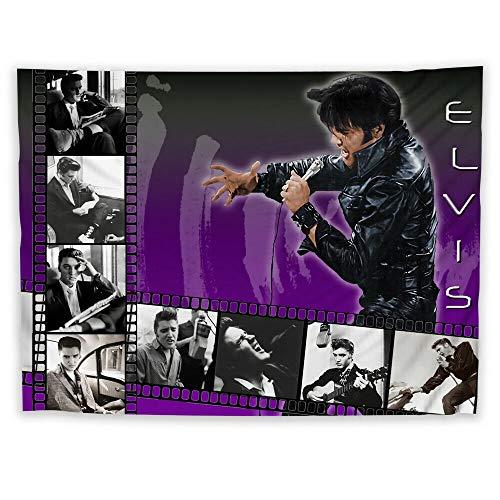 JackGo7 Elvis Presley Tapisseriekunst Wandbehang Sofa Tisch Bett Abdeckung Wandbild Wandbild Strand Decke Zuhause Schlafsaal Zimmer Dekoration Geschenk, 60X45inch/150x113cm -