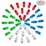 STARVAST Finger Flashlights, 40 Pcs Super Bright LED Finger Flashlight Party Favor Supplies (Mixed Colors)