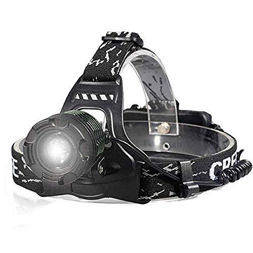ZTKGB Outdoor-wiederaufladbare LED-Scheinwerfer, 3 Modi superhelle Beleuchtung, wasserdichte Taschenlampe, mit Akku und Ladegerät, geeignet für Campingwandern im Freien