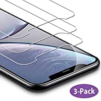 AUELEK Screen Protector for iPhone XR [3-Pack] Tempered Glass Screen Protector 9H Hardness,Anti-scratch, Bubble-Free, Anti-Fingerprint HD Screen Protector Film for iPhone XR