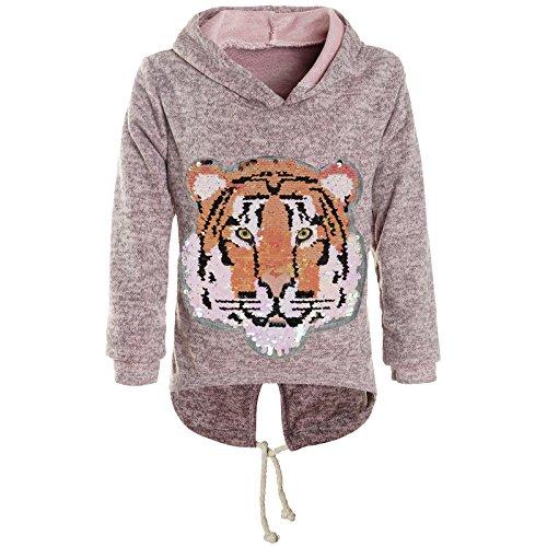 BEZLIT Mädchen Kapuzen Pullover Pulli Wende-Pailletten Sweatshirt Hoodie 21484 Rosa Größe 164
