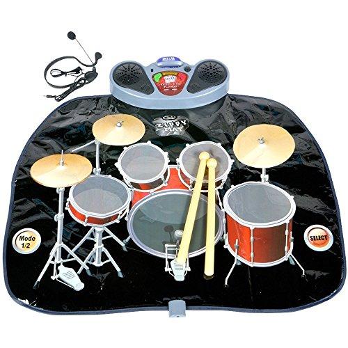 Tragbare E-Drum Kit Set Bodenspielmatte, Schwarz