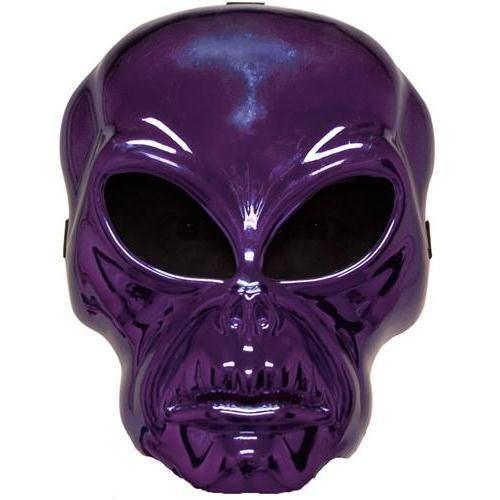 Halloween Kost¨¹me Maske Gesicht Maske Kost¨¹m St¨¹tze Scary Creepy Schreckliche Maske Monster Maske Plastik Maske Over-the-Head-Maske Lila Alien Erwachsene Maske f¨¹r Maskerade Make-up Party