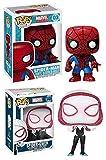 Funko Pop! Spider-Man + Spider-Gwen - Marvel Stylized Vinyl Bobble-Head Figure Set New