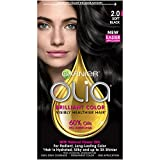 Garnier Olia Oil Powered Permanent Haircolor, Soft Black 2.0
