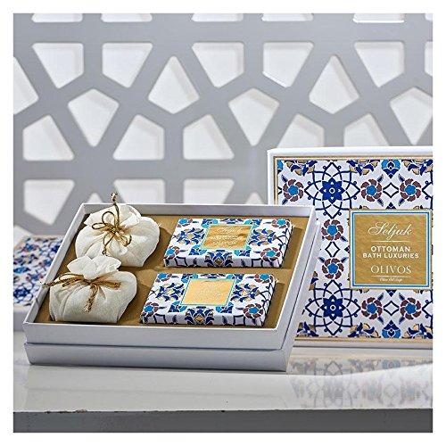 OLIVOS Ottoman Set Seljuk Savon 2 x 250 g Savon en Poudre 2 x 100 g