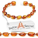 Amber Bracelet or Anklet / Premium Baltic Amber Beads that are 50% Richer and in Higher Value / Variuos Sizes from 13 to 22 cm