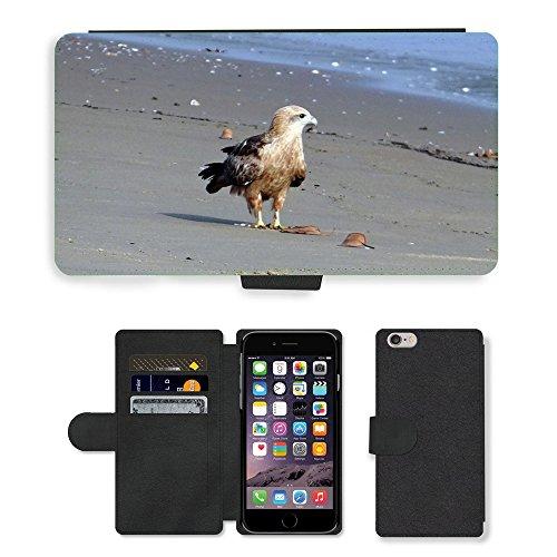 Just Mobile pour Hot Style Téléphone portable étui portefeuille en cuir PU avec fente pour carte//m00139827Milan Kite Haliastur Indus//Apple iPhone 6Plus 14cm