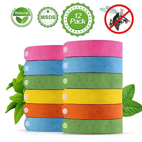 omitium Mückenschutz Armband 12 Stück Insektenschutz Armband Anti mücken Armband 100{f457624d0a53df5c2d46ce7653b29d2827bada77d25514870eeffb76d72b8c45} natürliche Pflanzenextrakte Mückenarmband zum Schutz für Babys, Kinder, Erwachsene