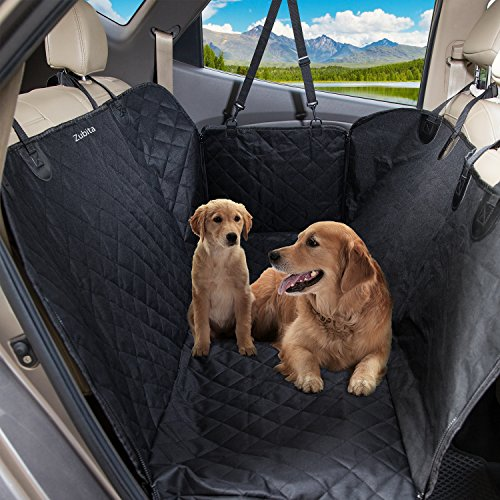 Sitzbezug Hängematte (Hundedecke Auto Zubita Hundetasche Auto für Hunde Rücksitz, Kratzer Proof, Wasserdichte Reise Hängematte Sitzbezüge verstellbarem Pet Auto Sicherheitsgurt, Universal für Auf die meisten Autos)