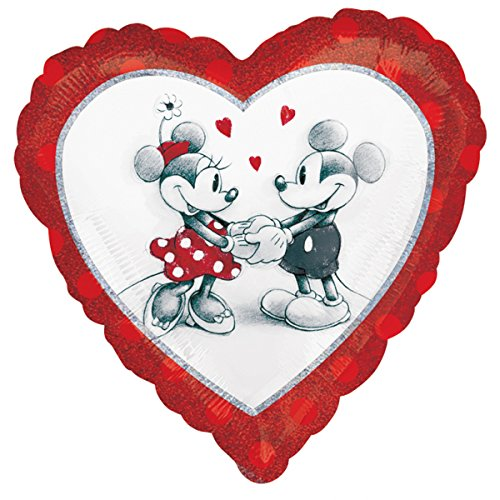 Amscan International 2804001 Disney Mickey und Minnie Liebe holographischen Standard Folie - Warehouse Maus Kostüm