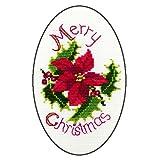 Derwentwater Designs Weihnachtskarte, Motiv Weihnachtsstern und Holly