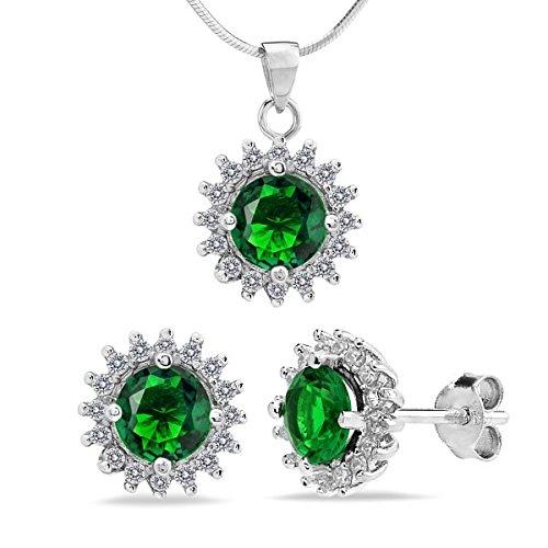 silv-ego-argento-set-orecchini-e-ciondolo-con-925-argento-con-zirconi-verdi