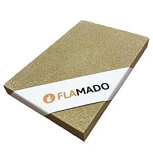 Flamado ® Vermiculite Platten 300 x 200 x 15 mm Kaminofen Ersatzteile Feuerfeste Steine Dichte: 600 KG/m3