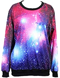 Tangda-Sweatshirt Femme Homme Unisex Halloween Décontracté éclair Imprimé Galaxy étoile Sweatjacke Pull-over Jacke Hoodies Manches Longue Fantaisiste Polyester